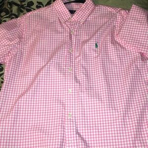 Pink polo button down